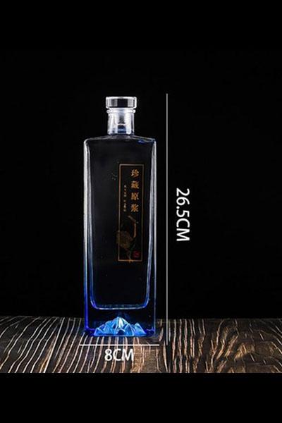 新款晶白料酒瓶-014